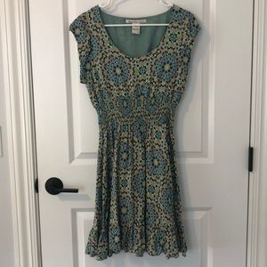 NWOT American Rag Printed Smocked waist dress